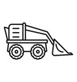 farm excavator icon outline style vector image vector image