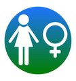female sign white icon in vector image vector image