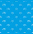 fence metal pattern seamless blue vector image vector image