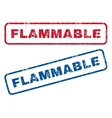 Flammable Rubber Stamps vector image vector image