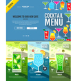 Flat style cocktail menu concept Web site design vector image vector image
