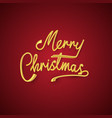 gold merry christmas text and new year xmas vector image vector image