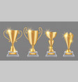 gold trophy realistic golden award cups vector image vector image