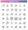 hair treatment line icon set vector image