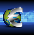 icon euro money with globe vector image