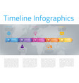 infographic style colored menu or arrows option vector image vector image
