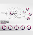 infographics business template concept with 5 opti vector image vector image
