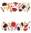 Kitchen tools background isolated vector image vector image