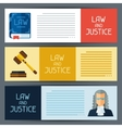 Law and justice horizontal banners in flat design vector image