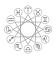 Linear zodiac signs icons for horoscopes vector image vector image