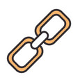 link chain line and fill design icon vector image