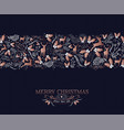 merry christmas copper ornament pattern card vector image vector image