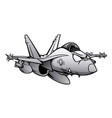military fighter attack jet airplane cartoon vector image vector image