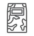 military handle shield line icon protection and vector image