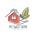 my sweet sweet home logo design ecologic home vector image vector image