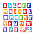 new font cut white letters lower case vector image vector image