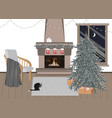 new year celebration interior vector image vector image