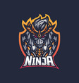 ninja mascot logo vector image vector image