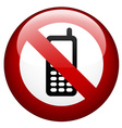 no phone mark vector image