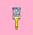 paintbrush line icon vector image vector image