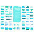 painted grunge stripes set blue and green labels vector image