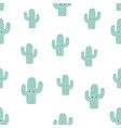 pattern with cartoon cactus vector image vector image