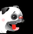 portrait a funny pug little vector image vector image