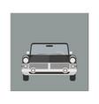 retro car front view limousine vector image vector image