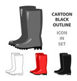 rubber boots icon of for web vector image vector image