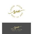 s u handdrawn brush monogram calligraphy logo vector image vector image