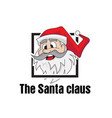 santa claus shares gifts on christmas vector image