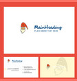 santa clause logo design with tagline front and vector image vector image