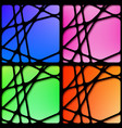 set of abstract network black frames vector image