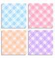 Set of four pattern with rhombs 4 in 1 EPS 10 vector image