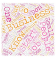 Signs of an Entrepreneur text background wordcloud vector image vector image