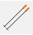 ski sticks icon cartoon style vector image