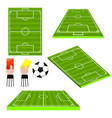 soccer football fields different view sides vector image