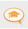 speech bubble with hat graduate vector image