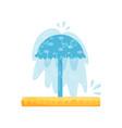 splash pad water umbrella small pool for kids vector image vector image