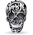 Swirl skull vector image vector image