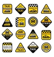 Taxi set labels vector image vector image