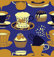 tea time pattern vector image vector image