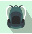 Touristic backpack flat icon vector image vector image