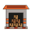 warehouse storage building vector image
