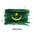 watercolor painting design flag mauritania vector image vector image