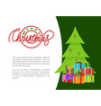 wishes of happy new year merry christmas postcards vector image vector image