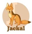 ABC Cartoon Jackal vector image
