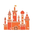 Cartoon castle isolated red vector image