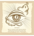 Spiritual eye in vintage style vector image