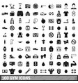 100 gym icons set in simple style vector image vector image